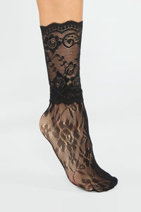 Lacey Days Socks - Black