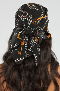 Off The Chain Head Scarf - Black
