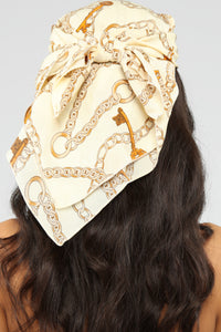 Off The Chain Head Scarf - Ivory