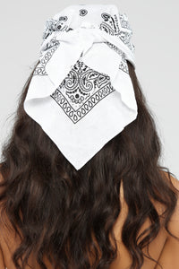 Bad Habits Bandana - White