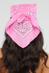 Bad Habits Bandana - Pink