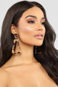 Shaped Like You Lucite Earrings - Brown