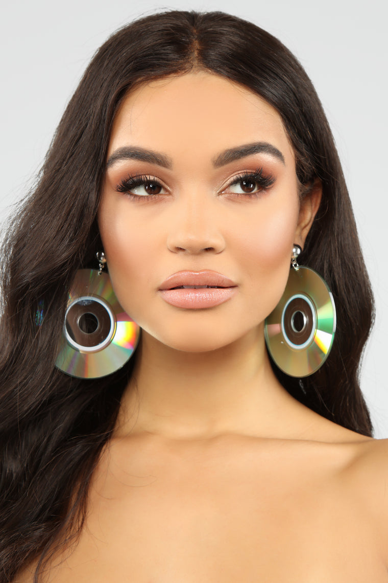 Play Me Back Hoop Earrings - Multi