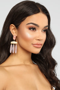 Clearly Girly Earrings - Pink Angle 2