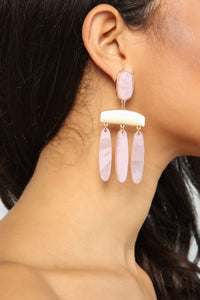 Clearly Girly Earrings - Pink Angle 1
