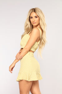 Favorite Polka Dot Top - Misty Yellow