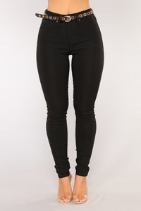In It To Win It Tummy Control Pants - Black Angle 7
