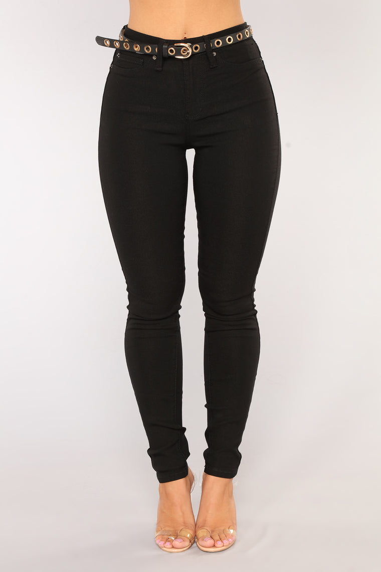 In It To Win It Tummy Control Pants - Black