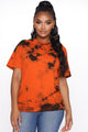 Come See About Me II Tie Dye Top - Orange/combo