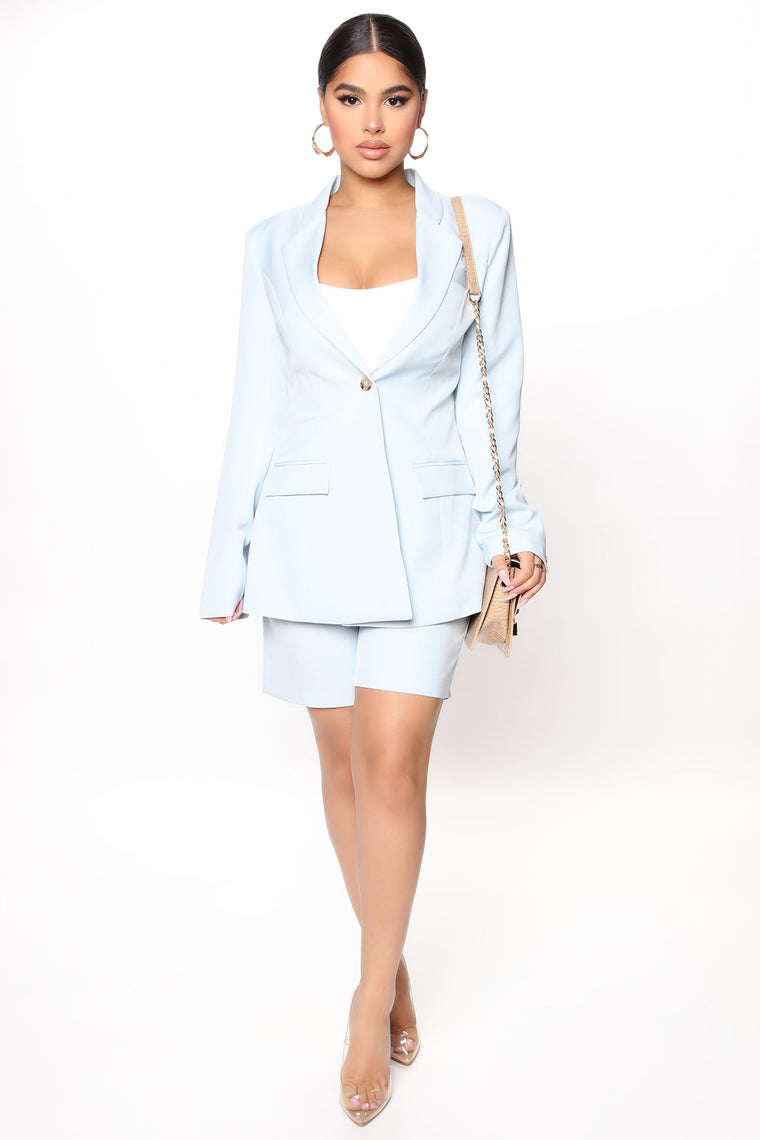 Not Your Casual Girl Blazer - Blue