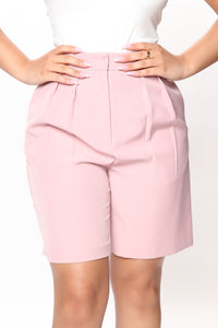 Not Your Casual Girl Short - Mauve Angle 2