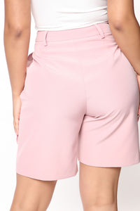 Not Your Casual Girl Short - Mauve Angle 3