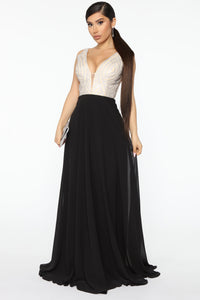 Capture The Moment Embellished Maxi Dress - Black Angle 1