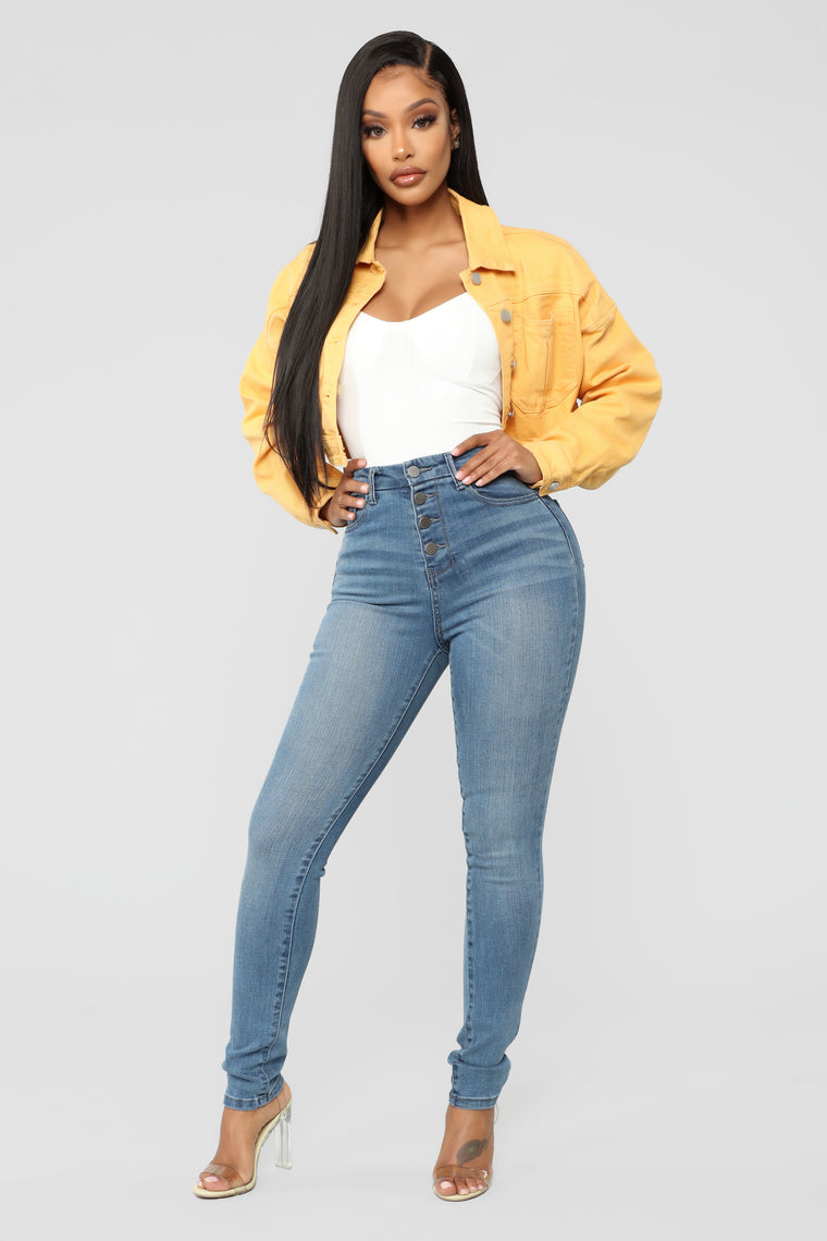 Elsie Denim Jacket - Mustard