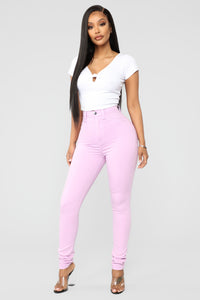 Made To Stand Out Skinny Jeans - Lavender Angle 1