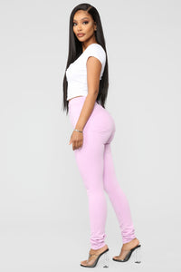 Made To Stand Out Skinny Jeans - Lavender Angle 4