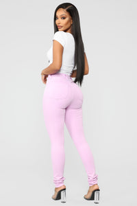 Made To Stand Out Skinny Jeans - Lavender Angle 6