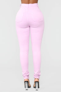Made To Stand Out Skinny Jeans - Lavender Angle 5