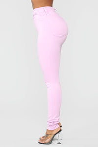 Made To Stand Out Skinny Jeans - Lavender Angle 3