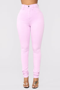 Made To Stand Out Skinny Jeans - Lavender Angle 2