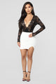 Risque Ponte Mini Skirt - White