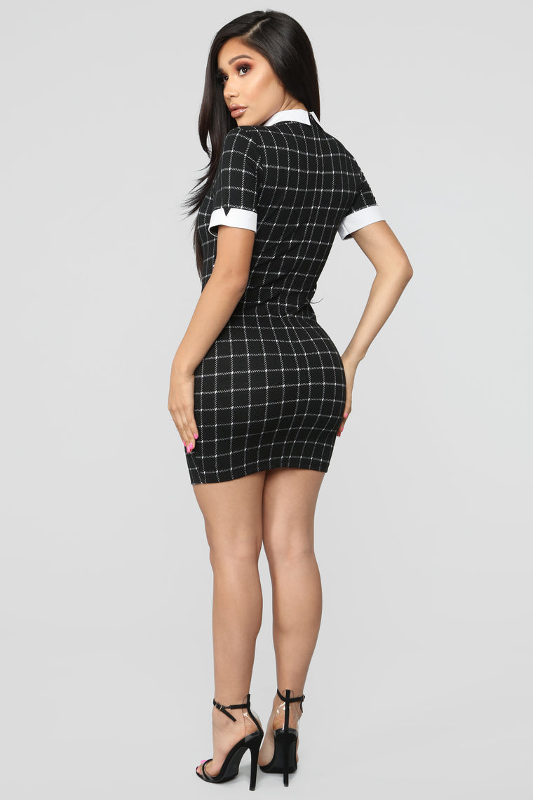 Any Day Of The Week Collared Dress - Black