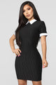 Week Day Collared Dress - Black