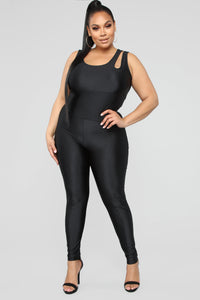 It's In My Nature Lounge Jumpsuit - Black Angle 5