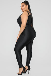 It's In My Nature Lounge Jumpsuit - Black Angle 7