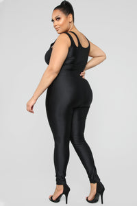 It's In My Nature Lounge Jumpsuit - Black Angle 8