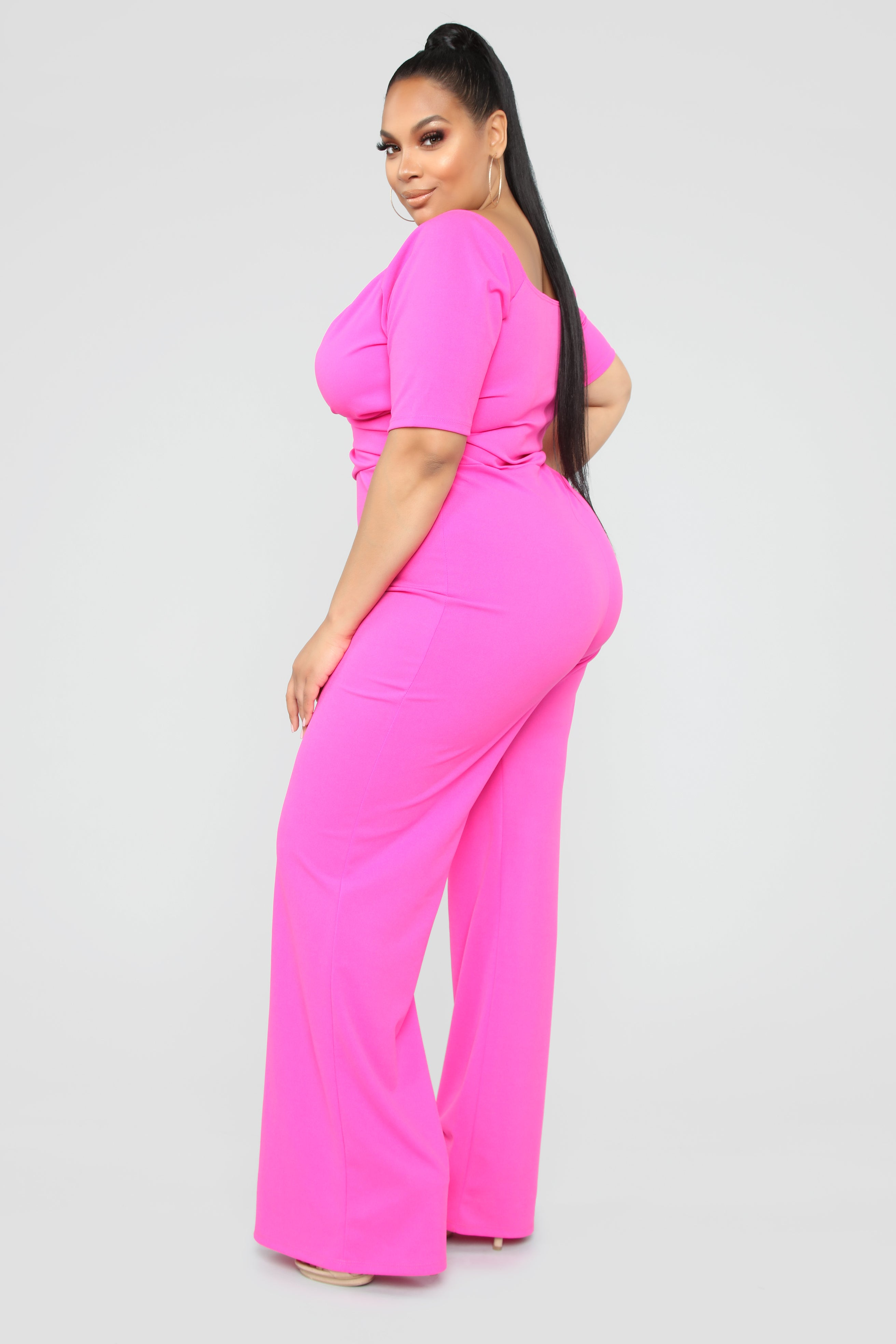d9587ea32cc When We Love Wide Leg Jumpsuit - Hot Pink