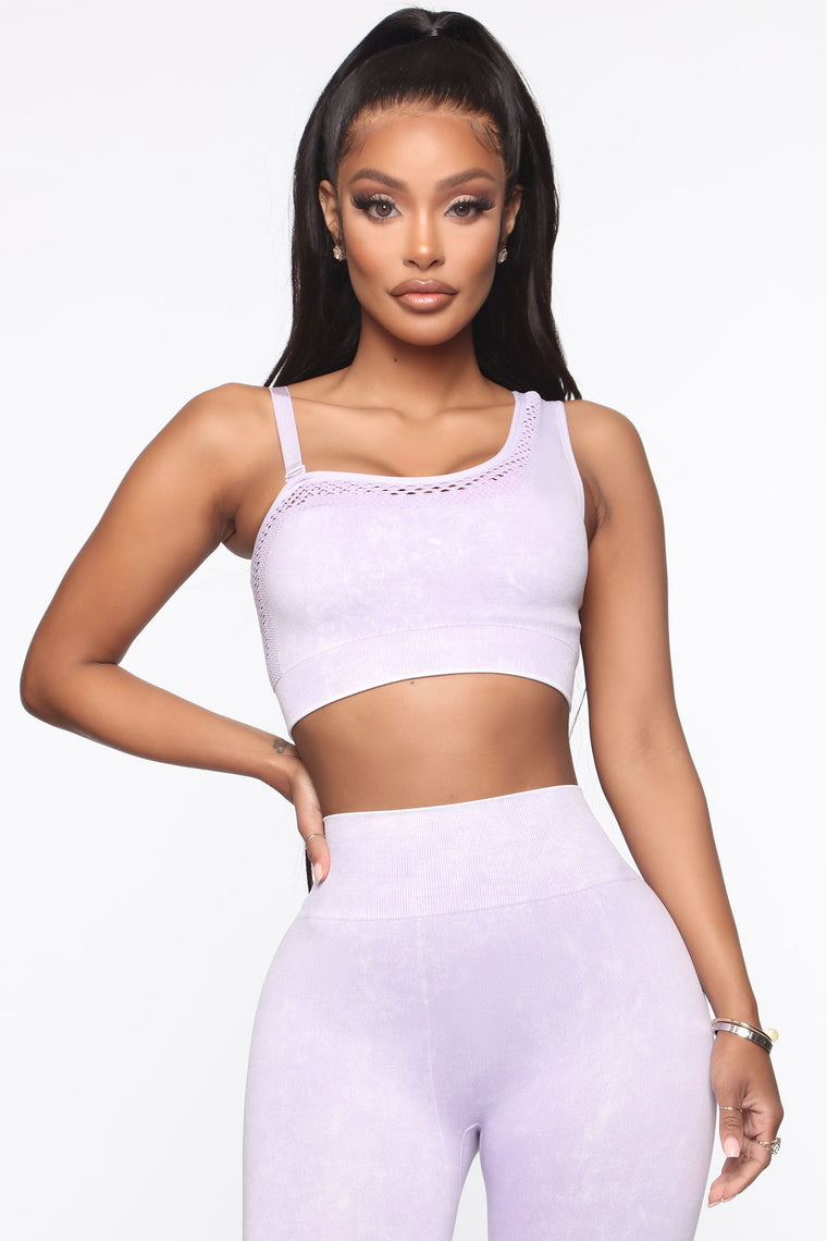 Focus Sports Bra In Infinity Seamless - Lavender