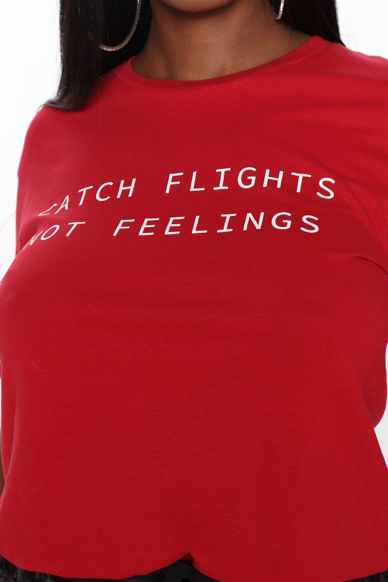 Catching Flights Tunic Top - Red