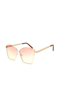Clair Square Sunglasses - Pink/Yellow