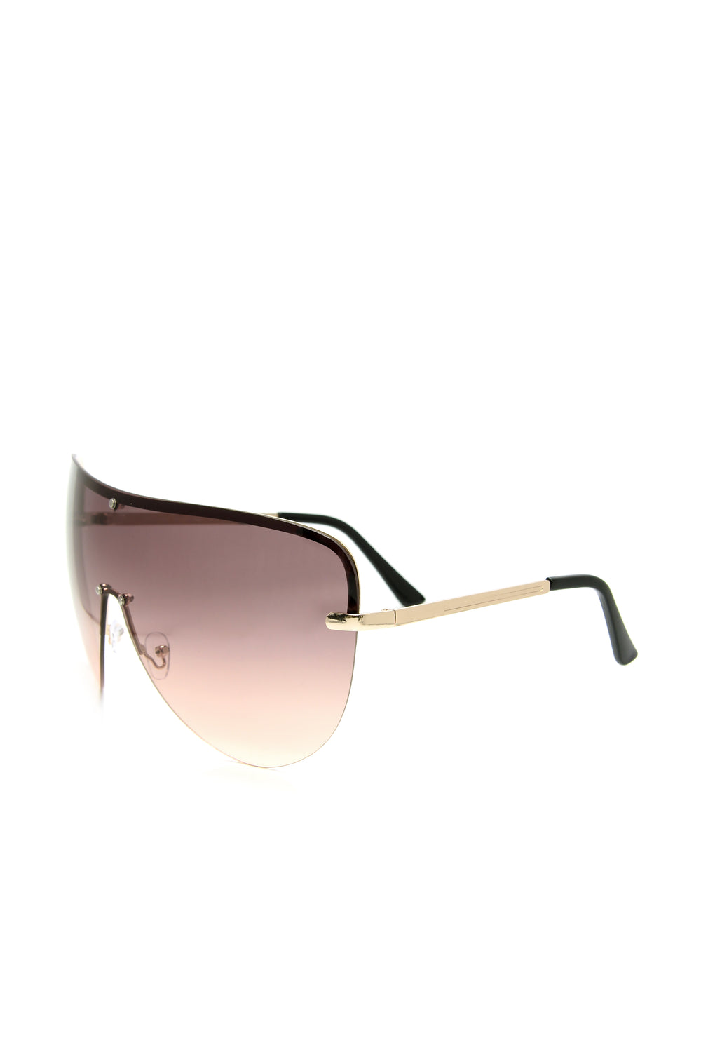 Deandra Shield Sunglasses - Brown