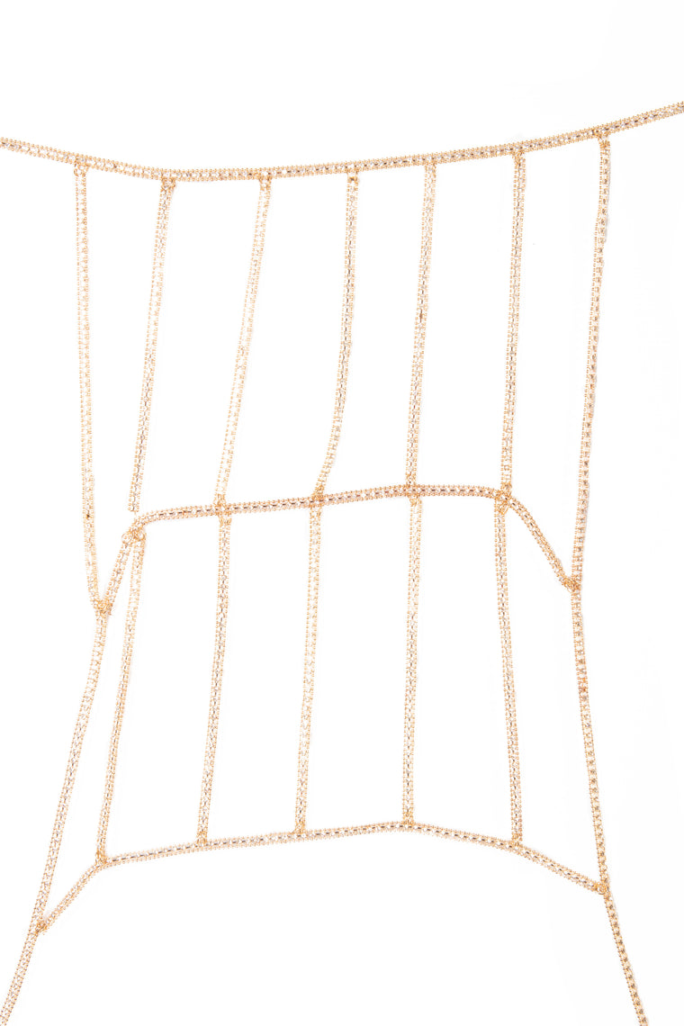 Cage The Animal Body Chain - Gold