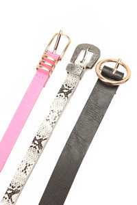 You Got Everything Belt Set - Pink/Combo