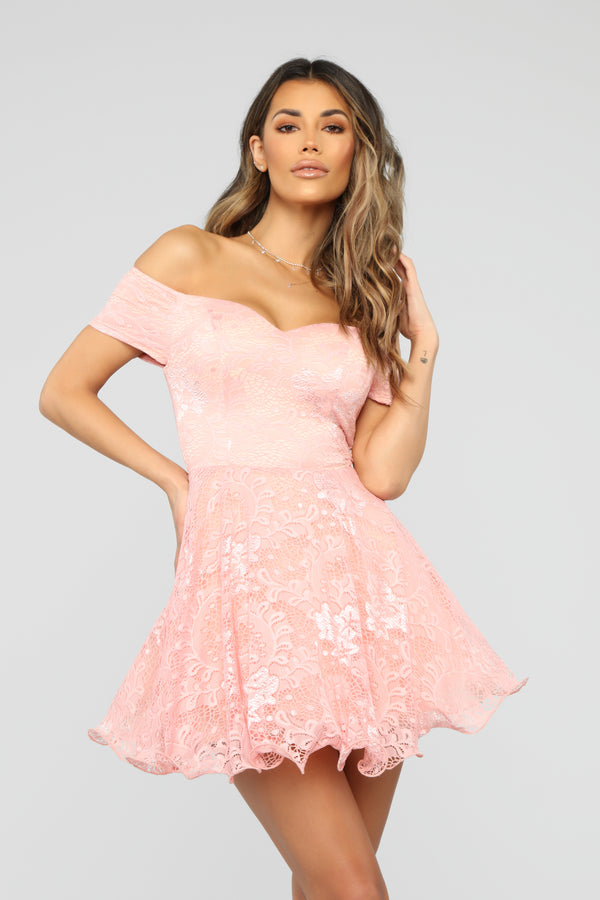 80c08d38a78 Pretty Diva Fit And Flare Dress - Blush