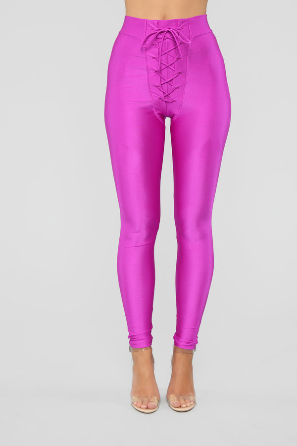 54b4aca1ab1 Tying Up Loose Ends Leggings - Magenta