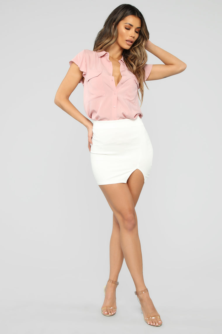 In Business Top - Blush