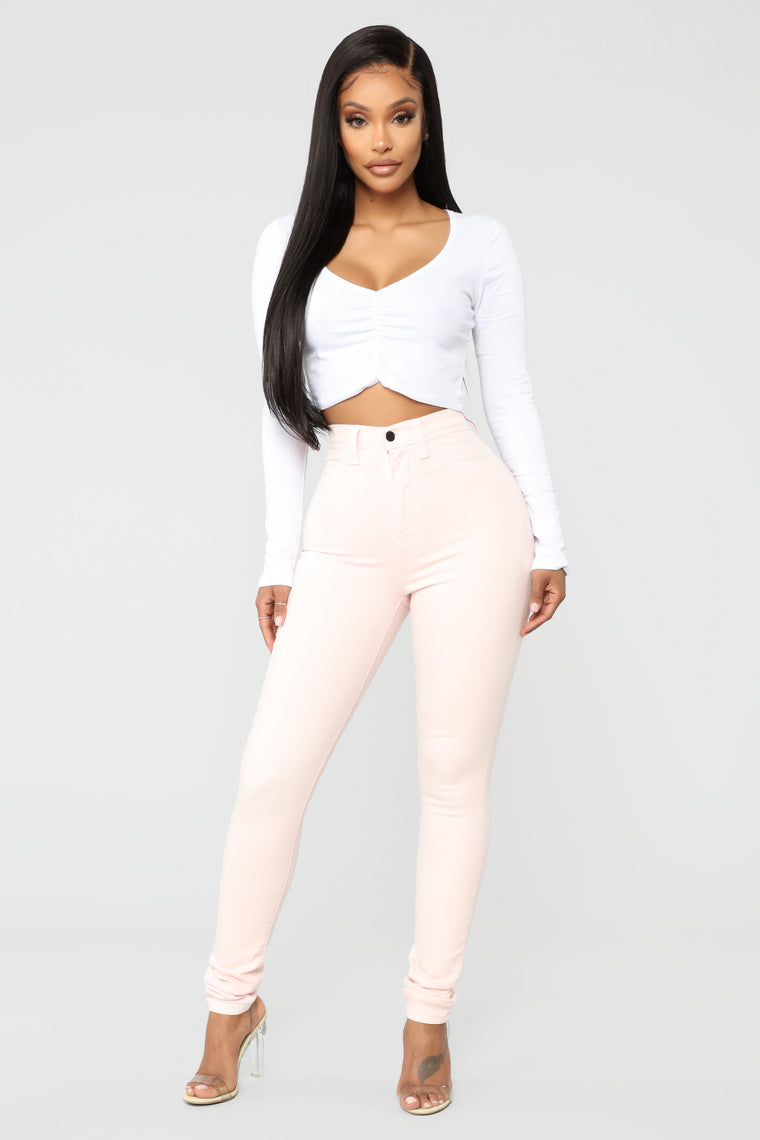 Made To Stand Out Skinny Jeans - Pink