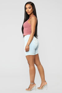 Not So Basic Crop Tank - Mauve