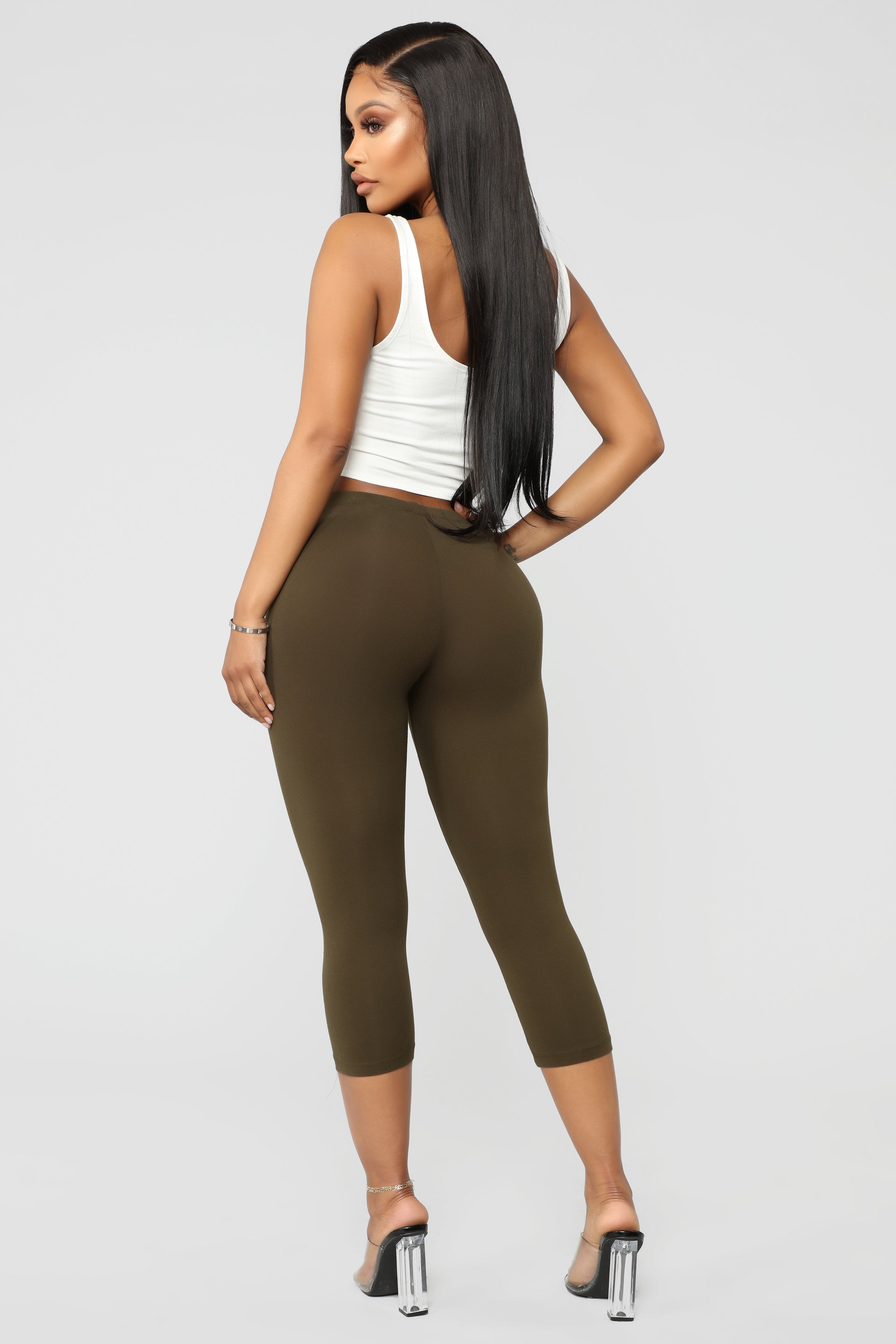 9e1d8dc3bbb Ready For Whatever Cropped Leggings - Olive