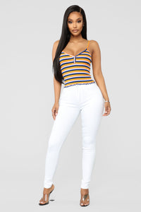 Time Of Your Life Skinny Jeans - White Angle 1
