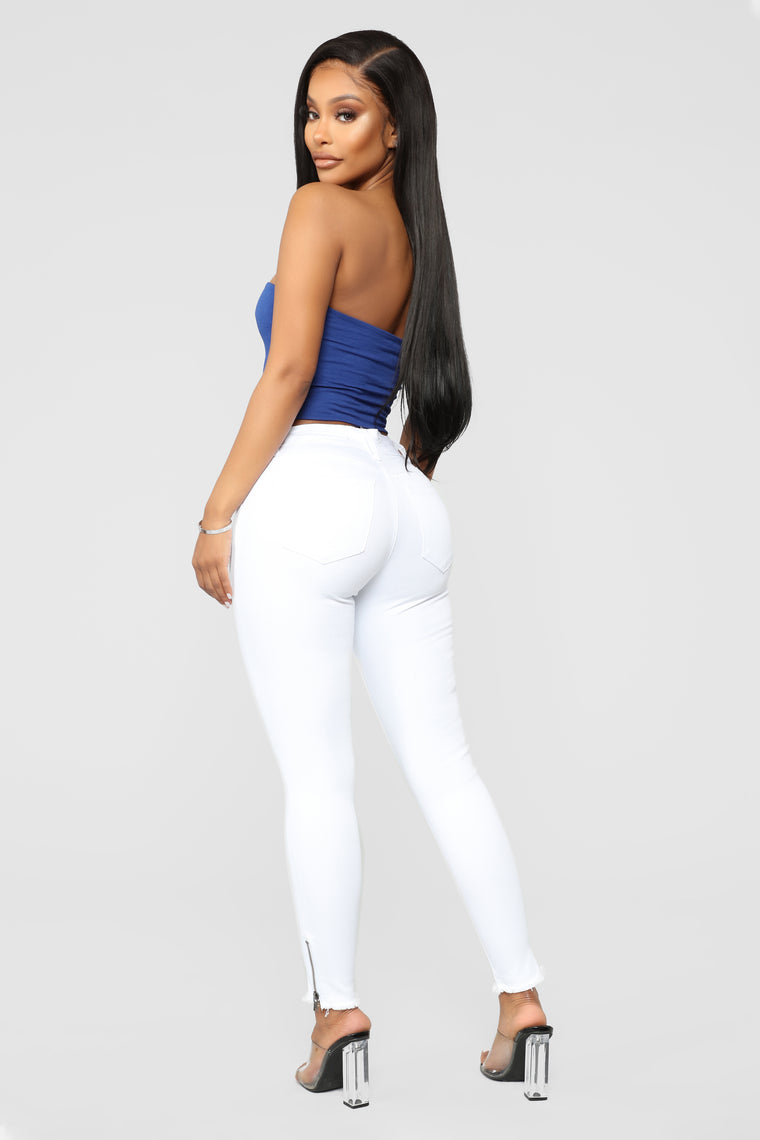 All That Jazz Ankle Jeans - White