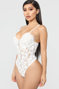 Lacey Mami Bodysuit - White/Nude