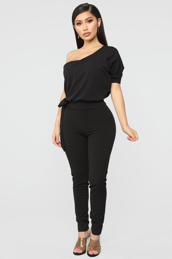 3e19fa2b275f Malvina One Sleeve Jumpsuit - Black