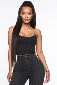 A Secret Lover Cropped Cami - Black Angle 1
