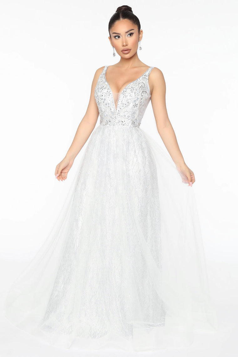 Living My Dream Embellished Maxi Gown White Dresses Fashion Nova,Long Indian Dresses For Weddings