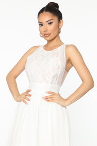 Free Minds Maxi Dress - White Angle 2